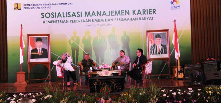 Ceramah tentang Kepemimpinan Berwawasan Bela Negara di Kementerian PUPR