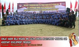 Diklat Kader Bela Negara BNI Calon Junior Relationship Manager dan Assistant Development Program