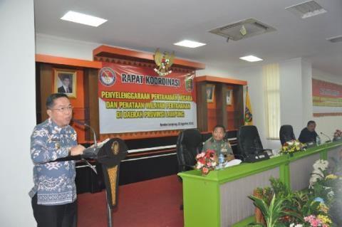 Kemenhan Kordinasi Penataan Wilayah Pertahanan di Lampung
