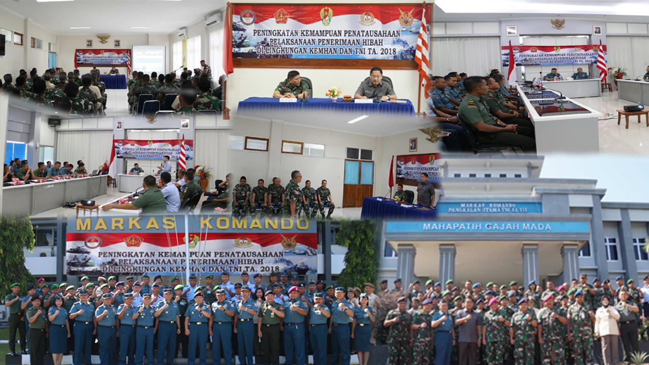 181112 Peningkatan Kemampuan Pelaksanaan Penatausahaan Penerimaan Hibah di Lingkungan KEMHAN dan TNI TA. 2018
